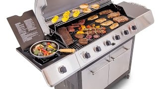 Char-Broil 6-Burner Gas Grill - Stainless Steel lid