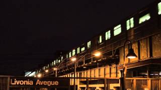 New Lots Avenue Bound R62 4 Train Passing Over the Livonia Avenue Station Platform
