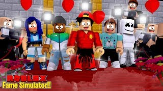 ROBLOX - FAME SIMULATOR, BECOMING THE MOST FAMOUS ROBLOX YOUTUBER!!