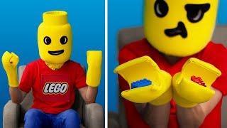 Превращаю себя в игрушку Лего / 11 лайфхаков для старых игрушек