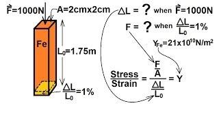 Physics - Mechanics: Stress and Strain (5 of 16) Young's Modulus