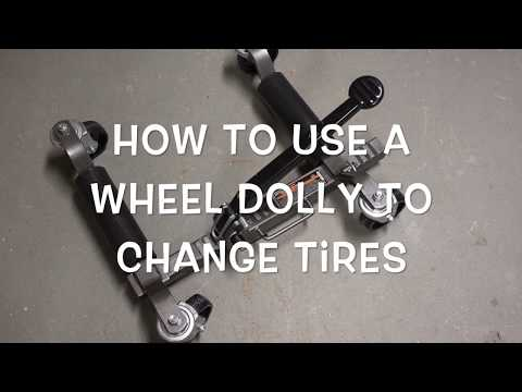 Using a Wheel Dolly to Change Tires