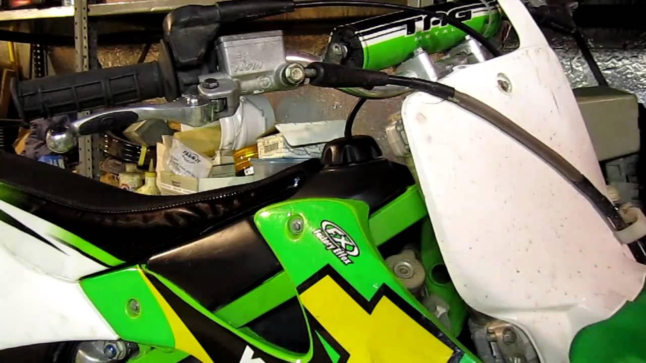 How To Install Dirtbike Brake Levers Kx250 Hd Youtube Honda Crf 150f Wiring Diagram 01