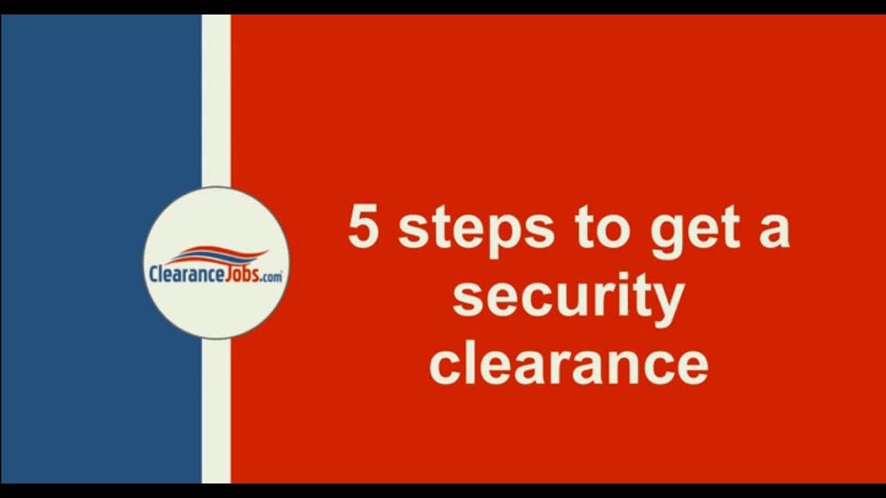 How to Get a Security Clearance - YouTube