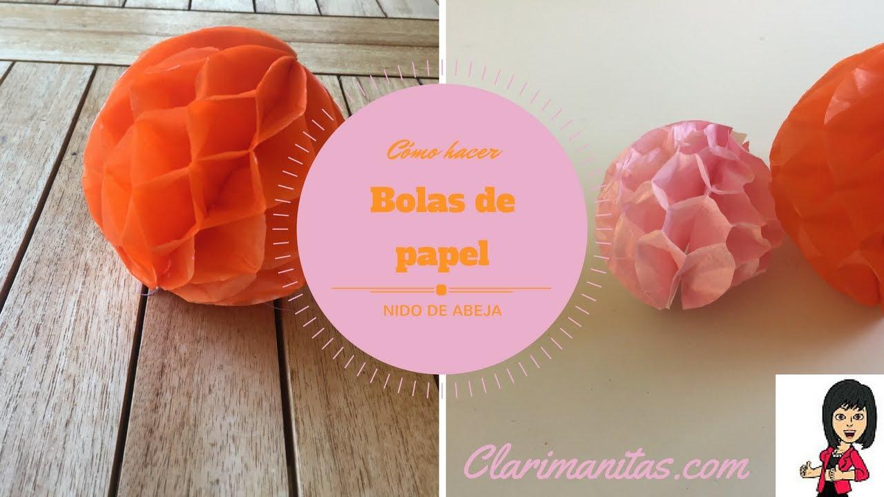 Como hacer bolas de papel - YouTube c1344502b2565