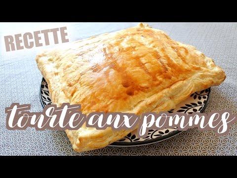 recette-•-tourte-aux-pommes-(-croissants-au-kinder)
