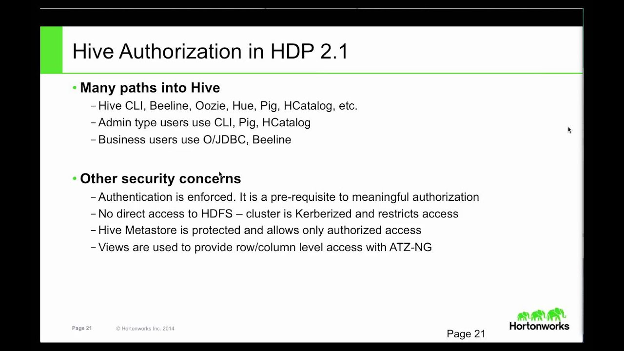 Discover HDP 2 1 -- New Features for Security & Apache Knox
