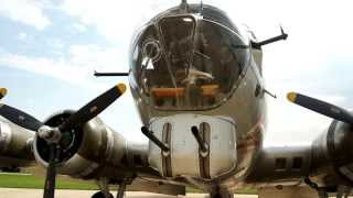 WW2 Boeing B-17 Bomber Taxi and Take Off