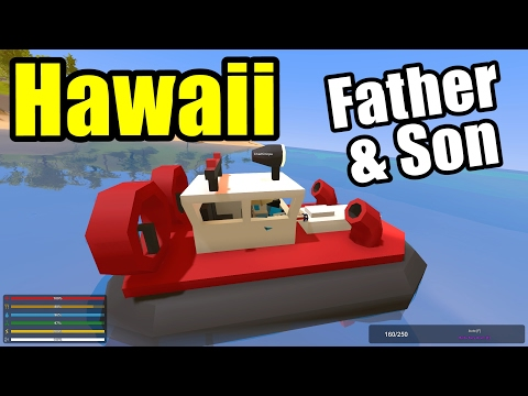 Coast Guard Rescue Heroes!! Father & Son Unturned (Unturned Hawaii Map)