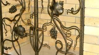Красивый кованый виноград , гроздья из металла ,элементы для дизайна декор решетки ковка(посмотреть http://kovka-dveri.com .. Красивый кованый виноград сделанный в кузнице, оригинальные гроздья виноградны..., 2016-09-28T12:24:34.000Z)