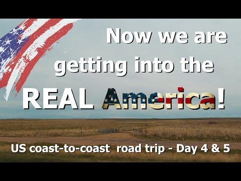 Now we are getting into the REAL America! - US coast to coast road trip (2017) - Day 4 & 5