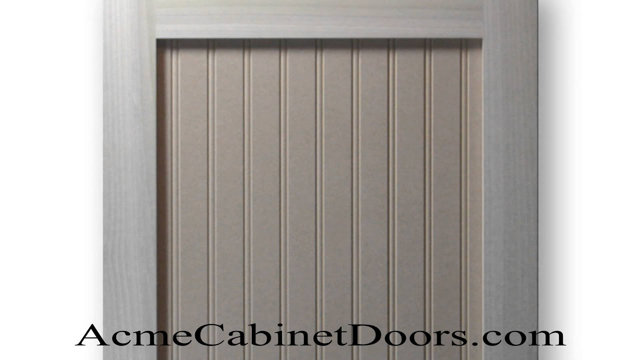 Paint Grade Shaker Beadboard Cabinet Door Poplar Mdf Panel Youtube
