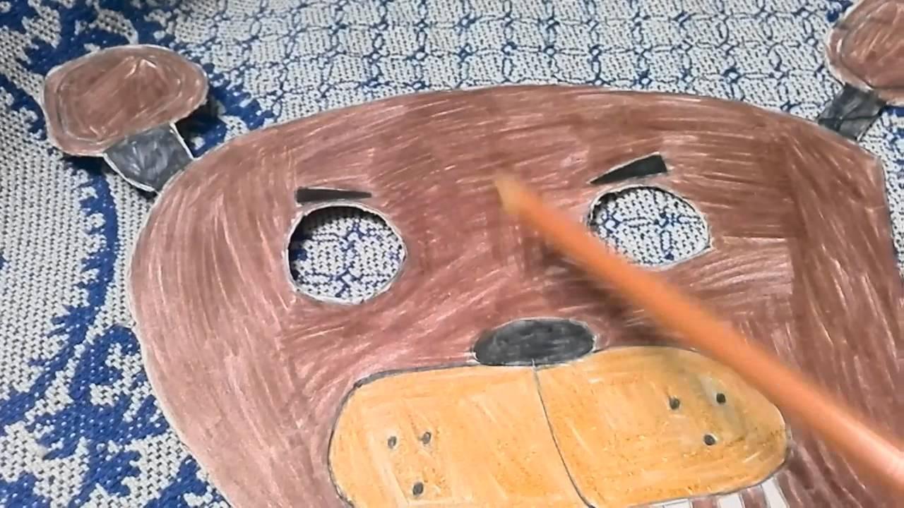 Как сделать маску мишки фредди фото 579