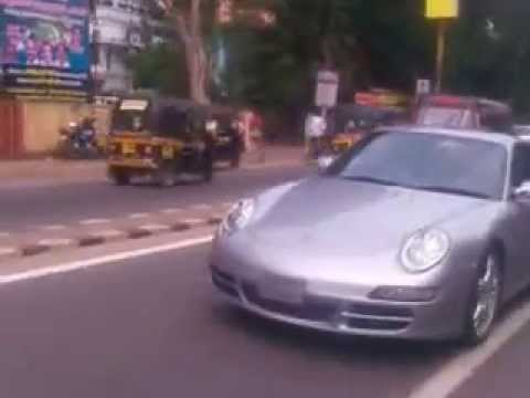 Porsche Cayman caught in mobile cam in kollam by REshnu Remesh