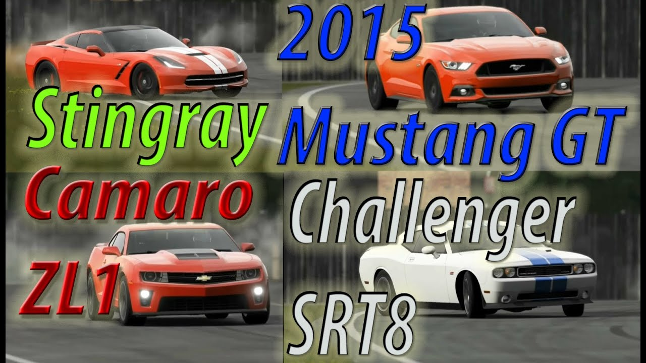 Top Gear 2015 Mustang Gt Vs Corvette Stingray Vs Camaro