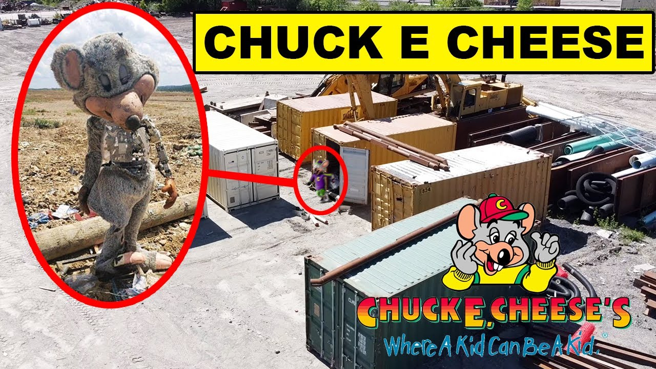 Download DRONE CATCHES CREEPY CHUCK E CHEESE ANIMATRONIC AT JUNKYARD | IF YOU SEE CHUCK E CHEESE OUTSIDE RUN!