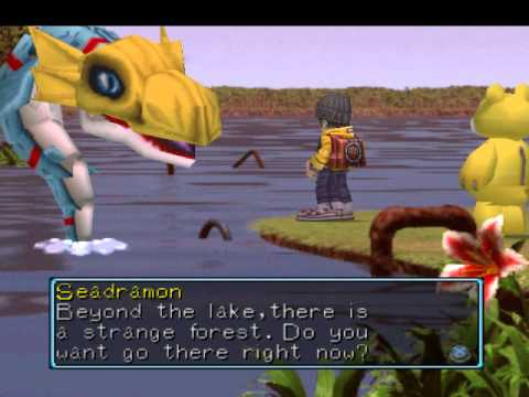 Let's Play Digimon World Part 51 3/3 - Meeting The Lake Guardian