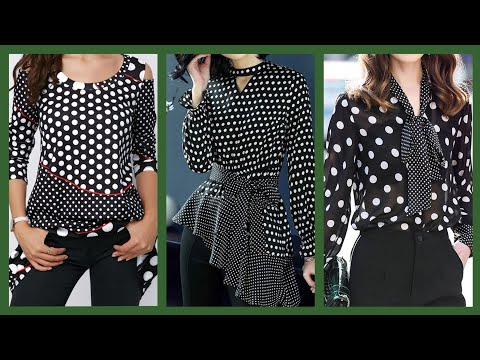 beautiful-simple-black-and-white-polka-dot-tunic-tops-and-blouse-collection-for-girls-and-women