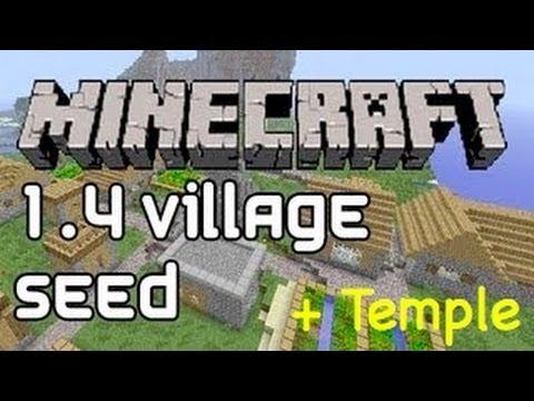 Minecraft Seed - Jungle Temple + Village (HUGE)