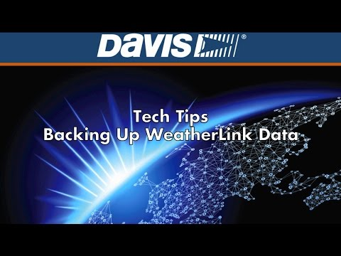 Tech Tip: How To Back Up Your Davis WeatherLink Data