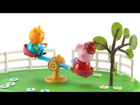 Свинка Пеппа и Джордж прыгают по лужам. Давайте смотреть бесплатно на русском мультики и игры 2017.