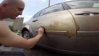 как отмыть машину от битума(вот как просто и без особых вложений отмыть от битумного загара автомобиль . потрачено 1 0,5 л бутылка уайт-с..., 2014-11-07T09:48:20.000Z)