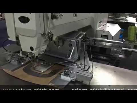 How To Sew Cap Visor Using Programmable Sewing Machine YouTube Classy Juki Ams224e Programmable Sewing Machine