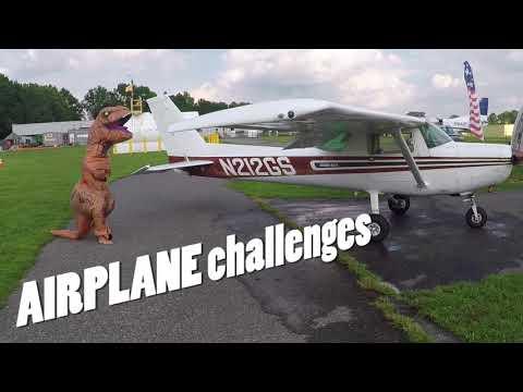 T-Rex Goes Skydiving at Skydive Cross Keys (NJ)