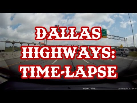 SO MANY LANES! Attempting to Navigate Dallas Highways: Time-lapse