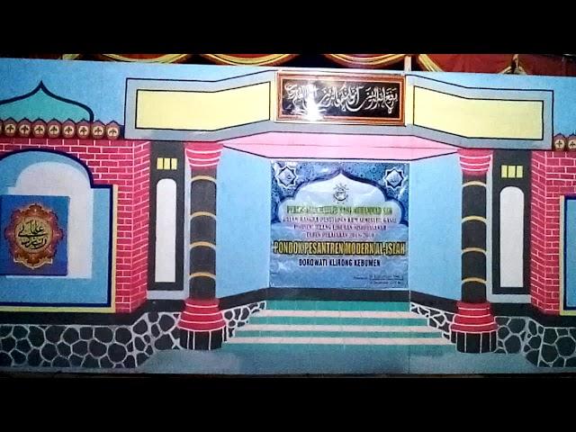 Desain beground Panggung peringatan hari besar Islam