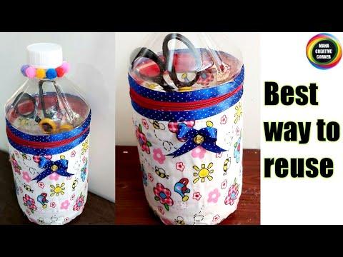 #Amazing #Plastic bottle craft idea #DIY Organizer from waste Plastic bottle #Bestoutofwaste plastic