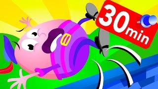 Humpty Dumpty and 10 Little Baby Sharks,  Cars & Learning Colours Compilation by Little Angel