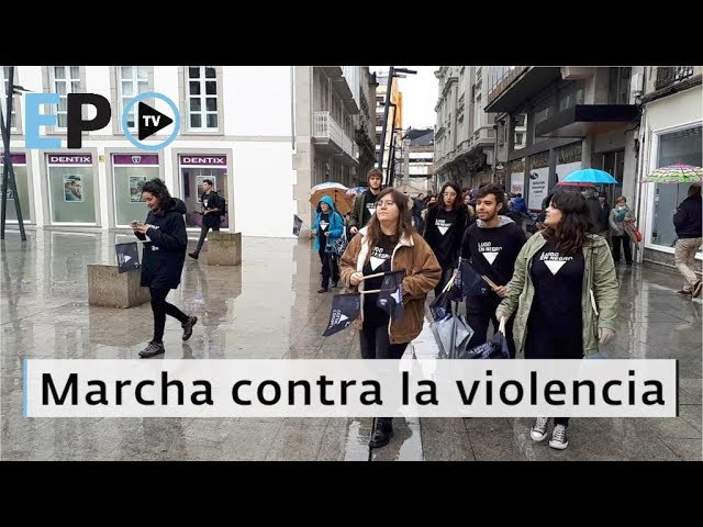 Marcha contra la violencia de género en Lugo