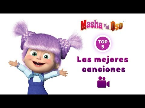 Masha y el Oso - Colección de las mejores canciones Parte 1 🔶 (5 videos musicales! 🎥)