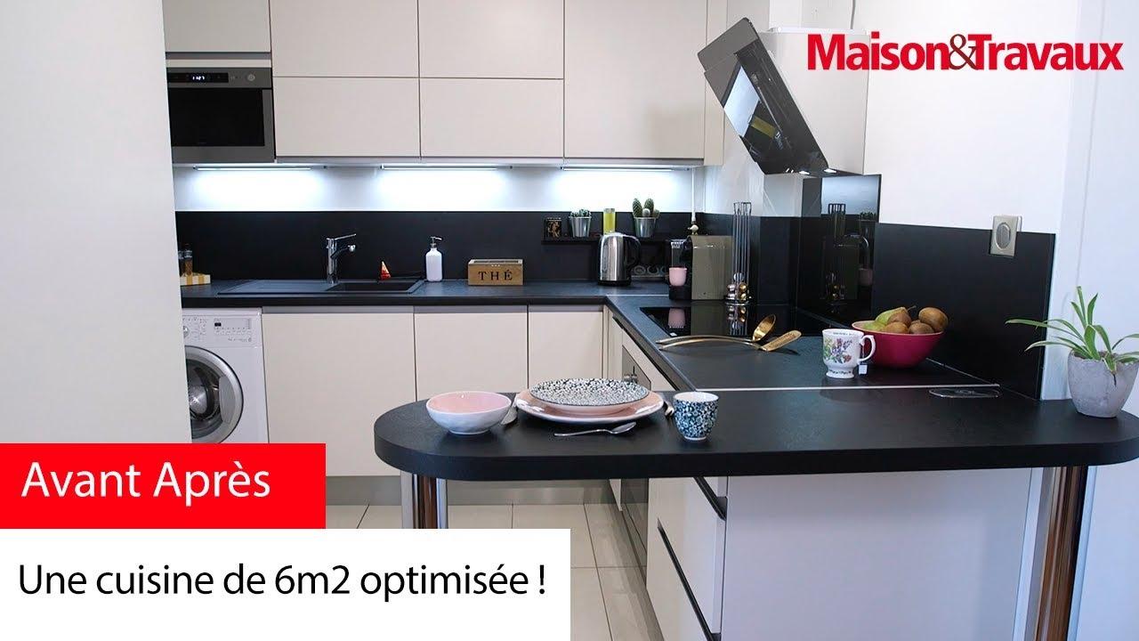 une cuisine de 6m2 optimisee