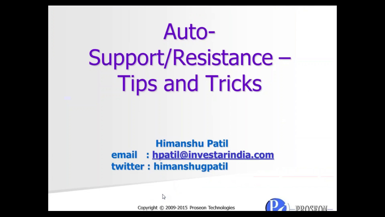 Auto Support Resistance Tips and Tricks