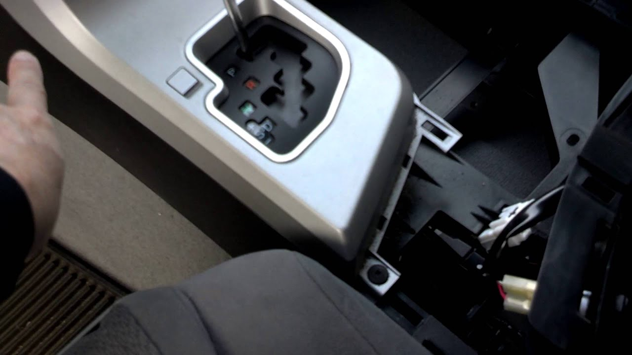 2007 Toyota Tundra Center Console removal and access to Yaw Sensor part 1  YouTube