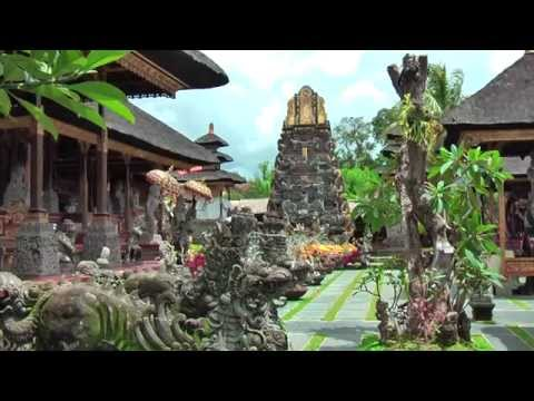 Pura Taman Saraswati temple has sculptures of Lempad, Ubud Bali Indonesia