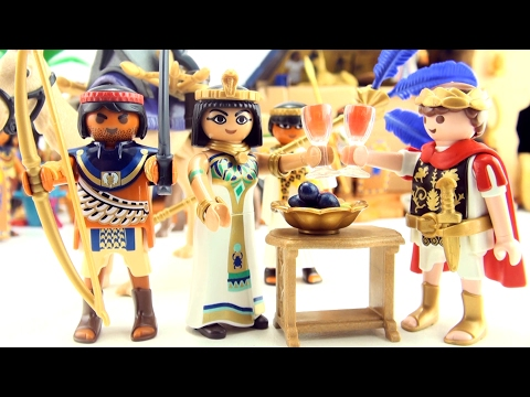 Playmobil toys Caesar and Cleopatra - Egyptian Warrior with Camel - playmobil 5394 and 5389
