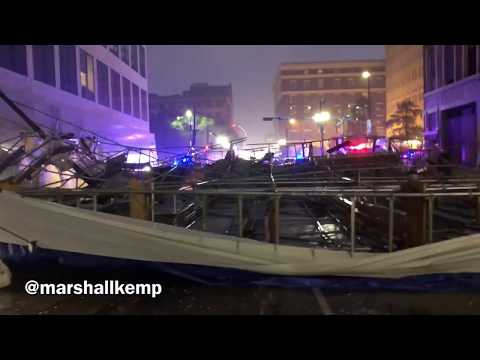 New Orleans Louisiana December 5th 2017 Carondelet Scaffolding Collapse