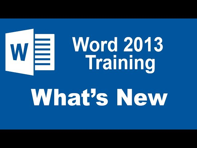 Word 2013 Training Tutorials