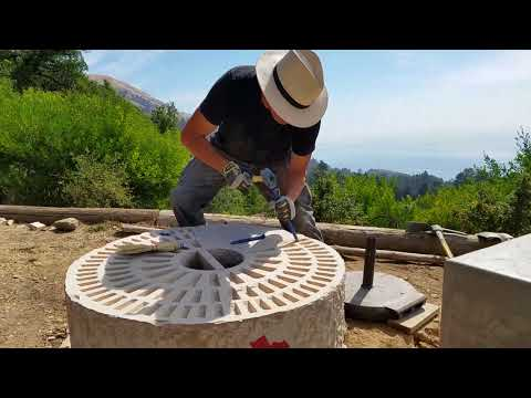 Joe Adams Sun Stone Sculpture Ventana Big Sur