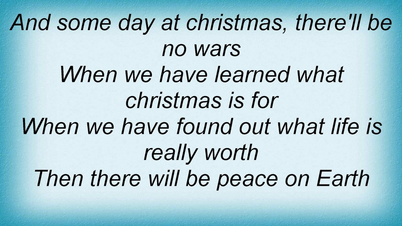 Someday At Christmas Lyrics.Jack Johnson Someday At Christmas Lyrics