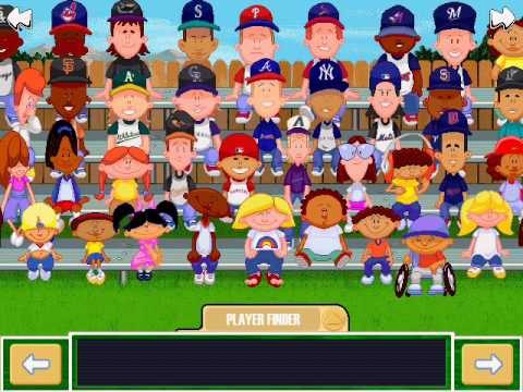 Backyard Baseball Players backyard baseball 2001 - player cards selection menu - youtube