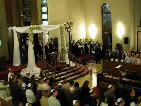 Cantor Simon Cohen Jewish Wedding Chuppa Con Te Partiro