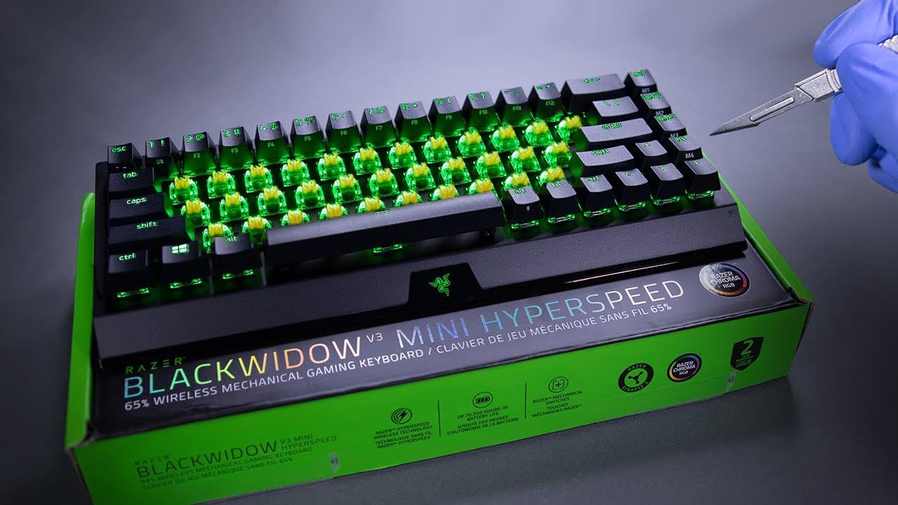 Razer BlackWidow V3 65% Mechanical Gaming Keyboard Unboxing - ASMR