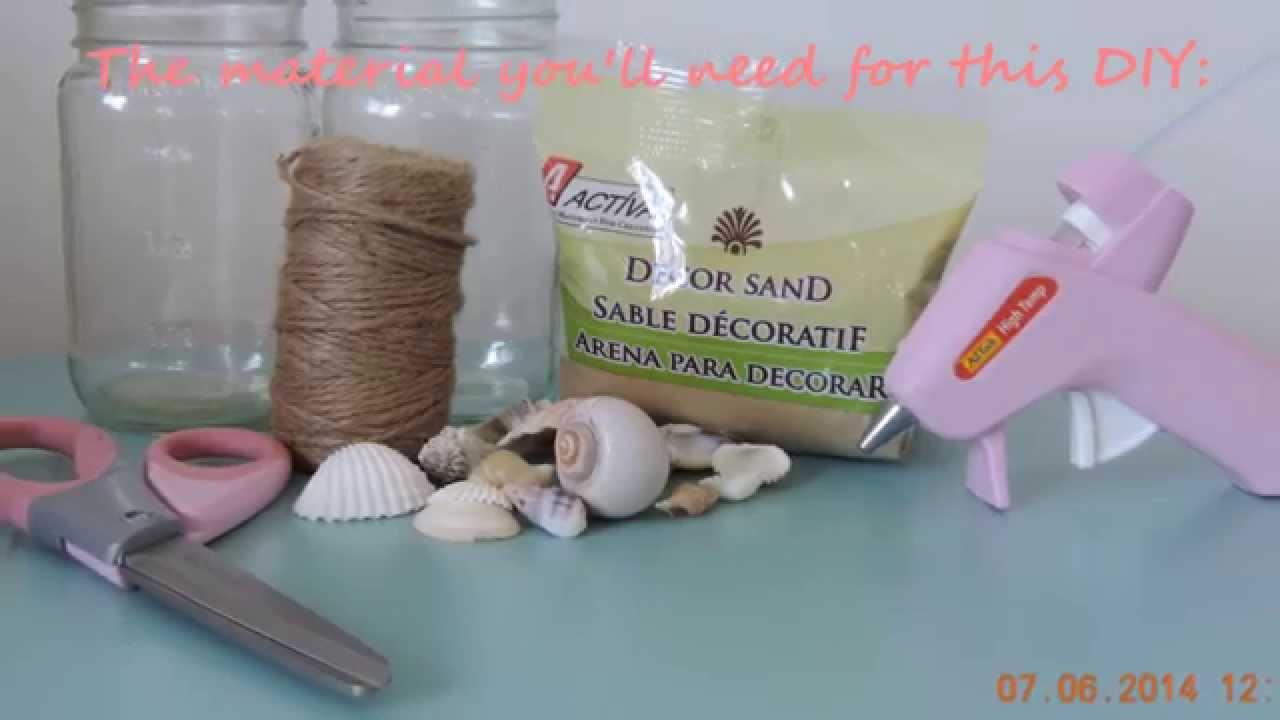 diy beach themed mason jars room decor party accessories youtube