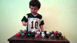Mase and his NFL helmets