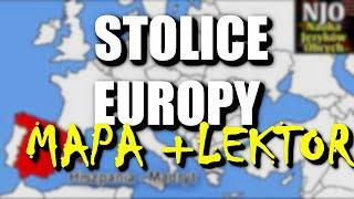 Stolice Europy - mapa oraz lektor