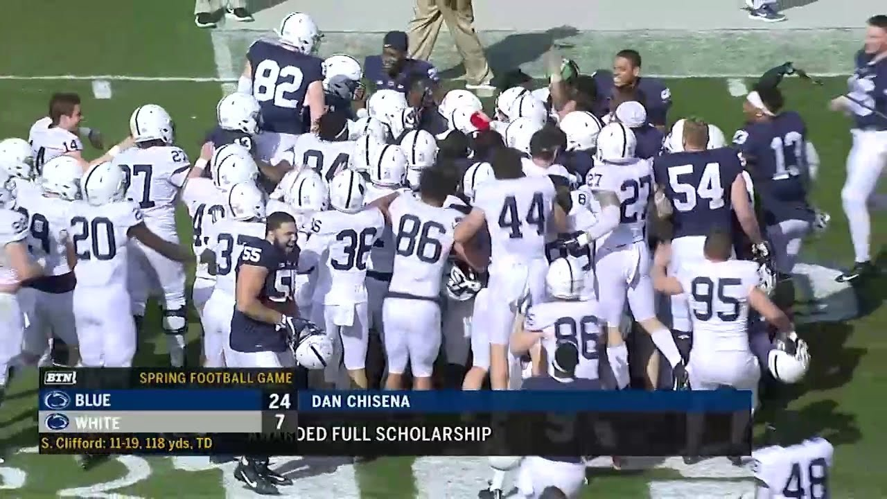 Penn State Football Highlights 2019 Penn State Spring Game B1g Football